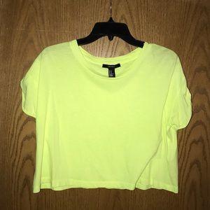 Forever 21 Neon yellowish/green crop top.